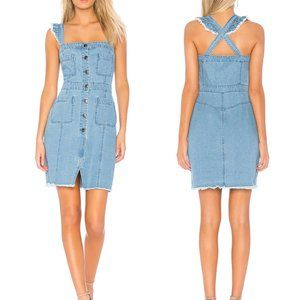Cupcakes & Cashmere Chambray Overall Ladonna Dress